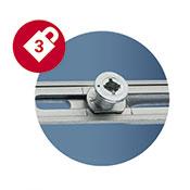 3 Pilzkopf-Sicherheits- schließzapfen